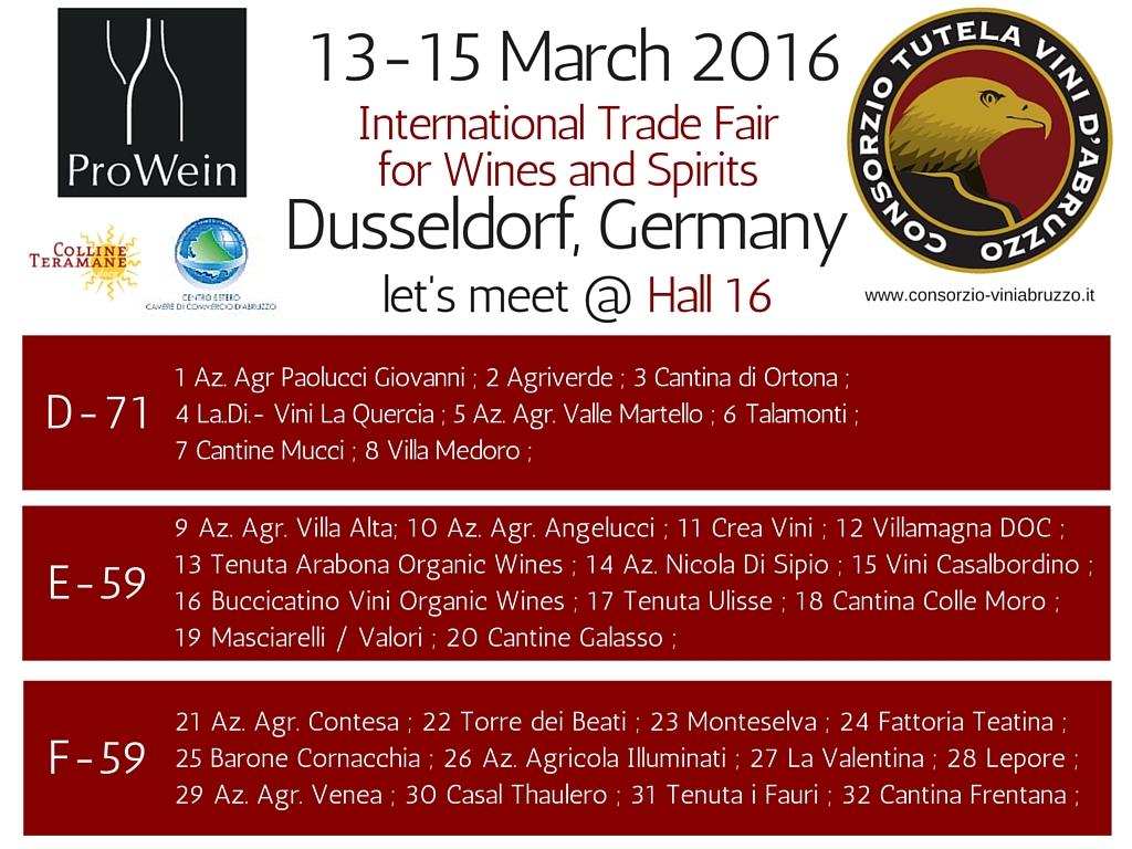 Abruzzo al Prowein di Dusseldorf con 32 aziende negli stand istituzionali