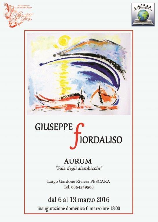 Pescara: Giuseppe Fiordaliso in mostra all'Aurum