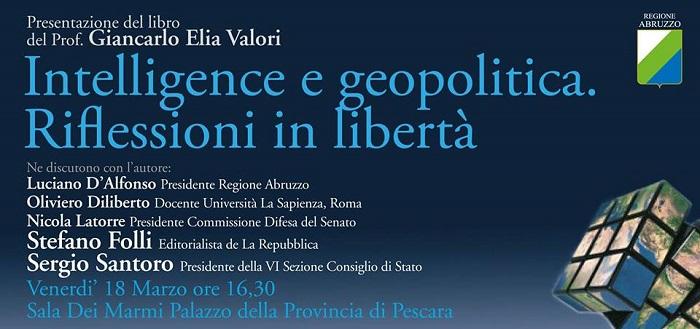 """""""Intelligence e geopolitica"""", dibattito a Pescara"""