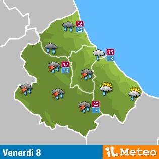 Previsioni meteo Abruzzo venerdì 8 aprile