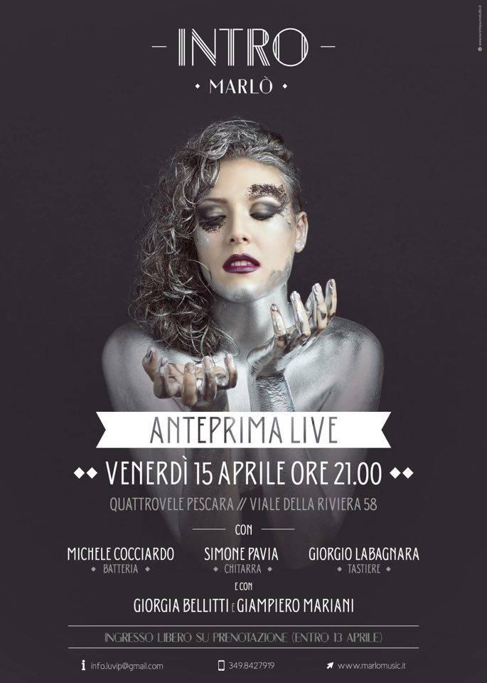 Marlò in concerto domani a Pescara