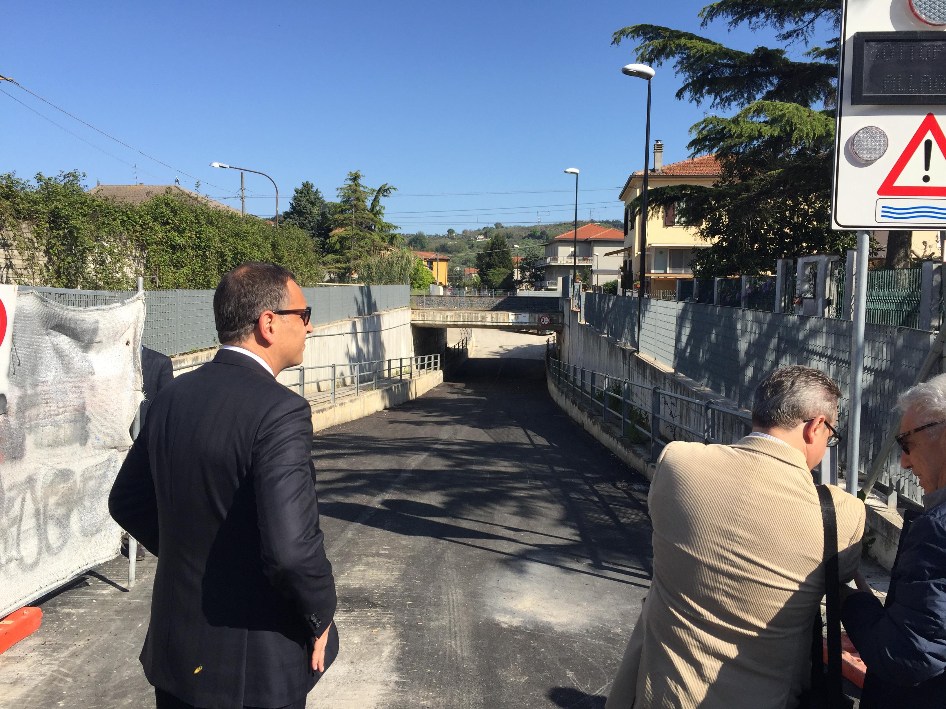 Pescara: riapre oggi sottopasso di Fontanelle