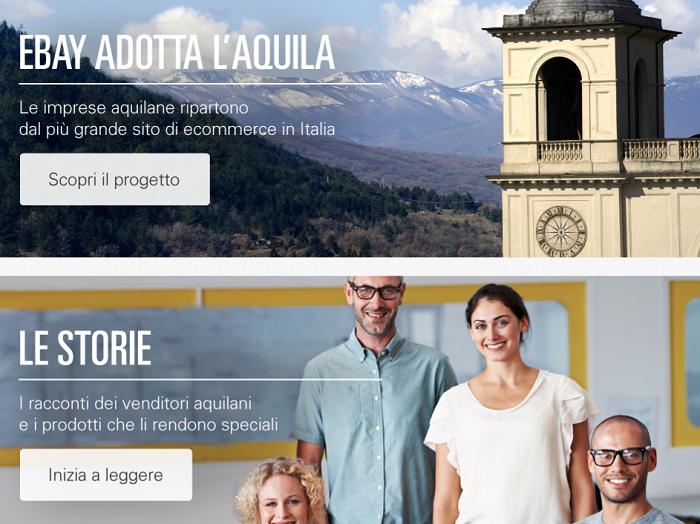 Commercio: ebay adotta L'Aquila