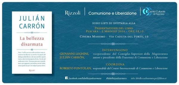 Pescara: Giovanni Legnini presenta il libro di Carron