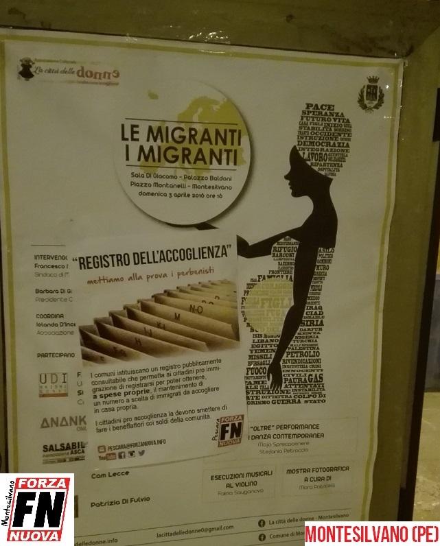 Registro Immigrati: blitz di Forza Nuova