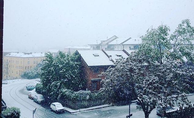 L'Aquila, 25 Aprile con la neve