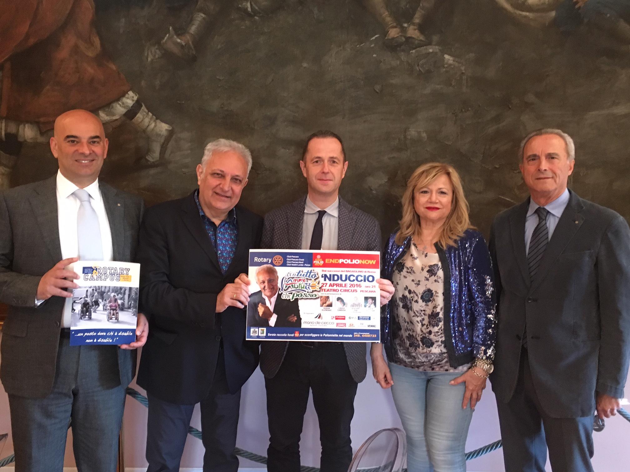 """Pescara: """"Con tutto l'amore che posso"""" contro la polio"""
