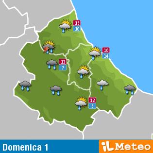 Previsioni meteo Abruzzo 1 maggio