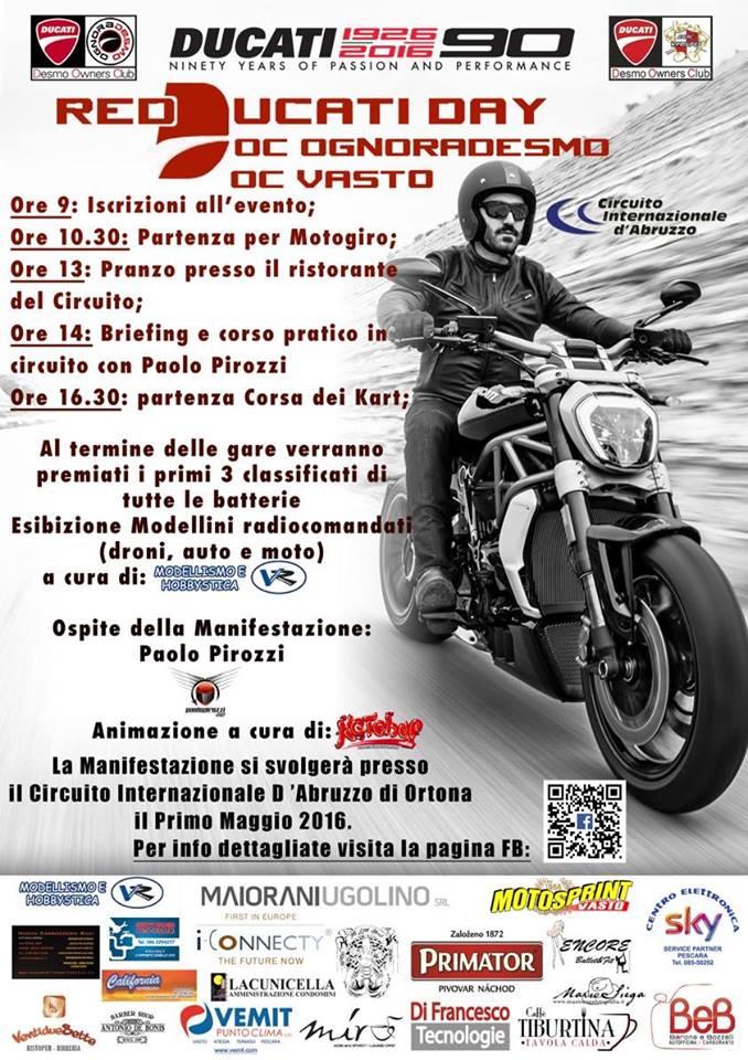 Ortona: il primo maggio il Red Ducaty Day