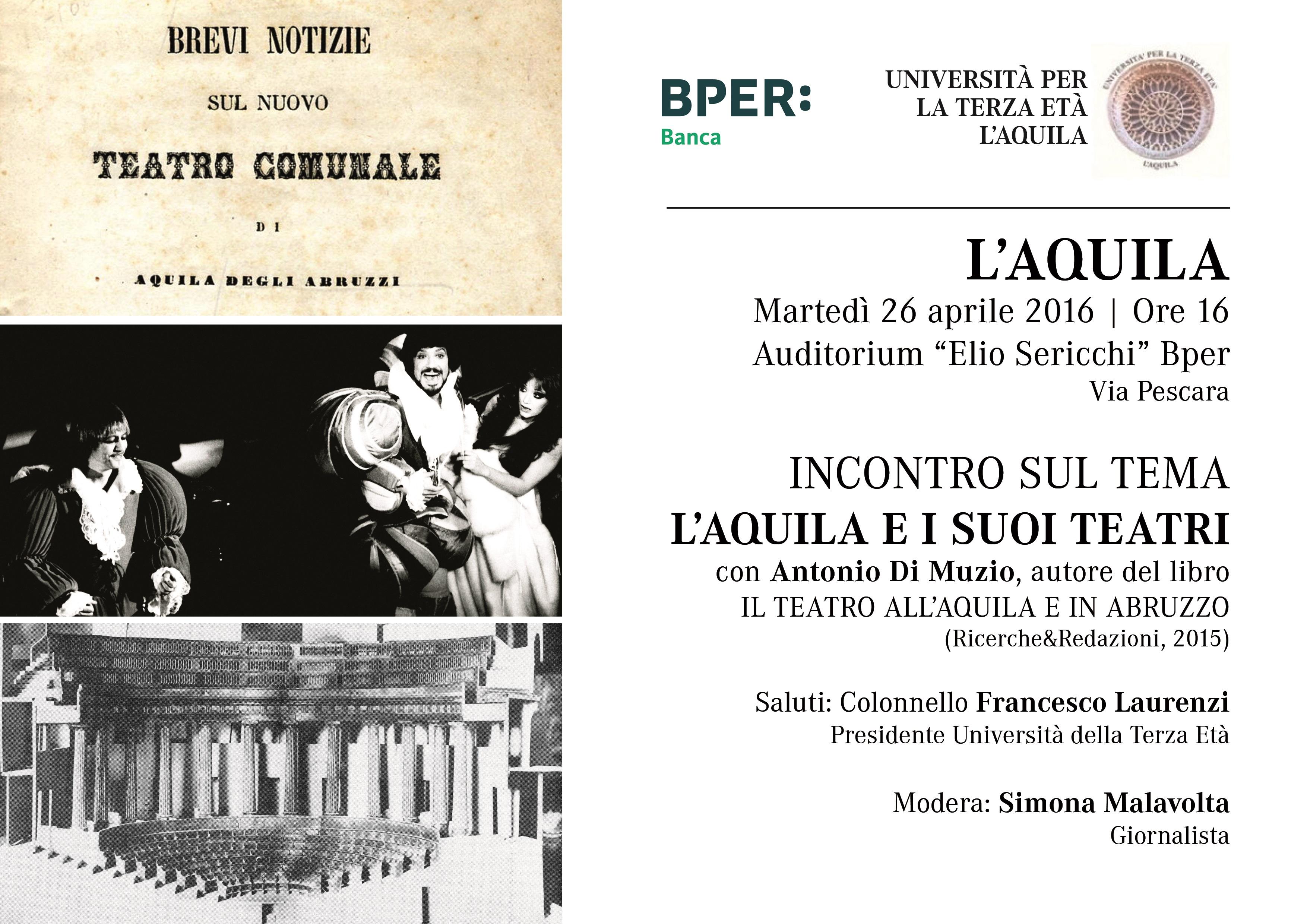 L'Aquila e la storia dei suoi teatri