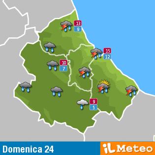 Previsioni meteo Abruzzo Domenica 24 Aprile