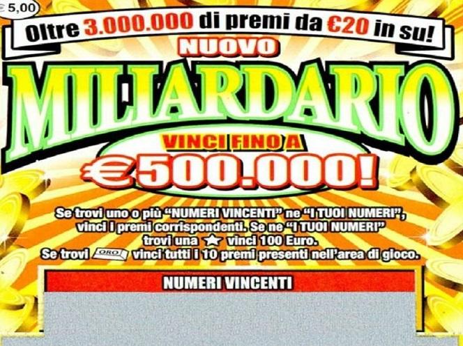 Villamagna: gratta e vince… 500.000 euro