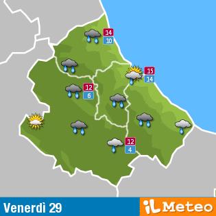Previsioni meteo Abruzzo venerdì 29 Aprile