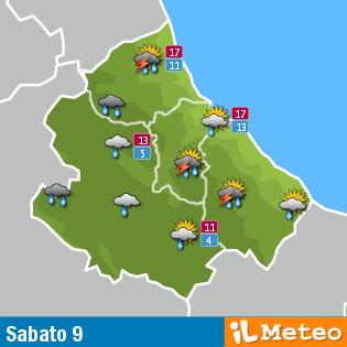 Previsioni Meteo Abruzzo del 9 aprile