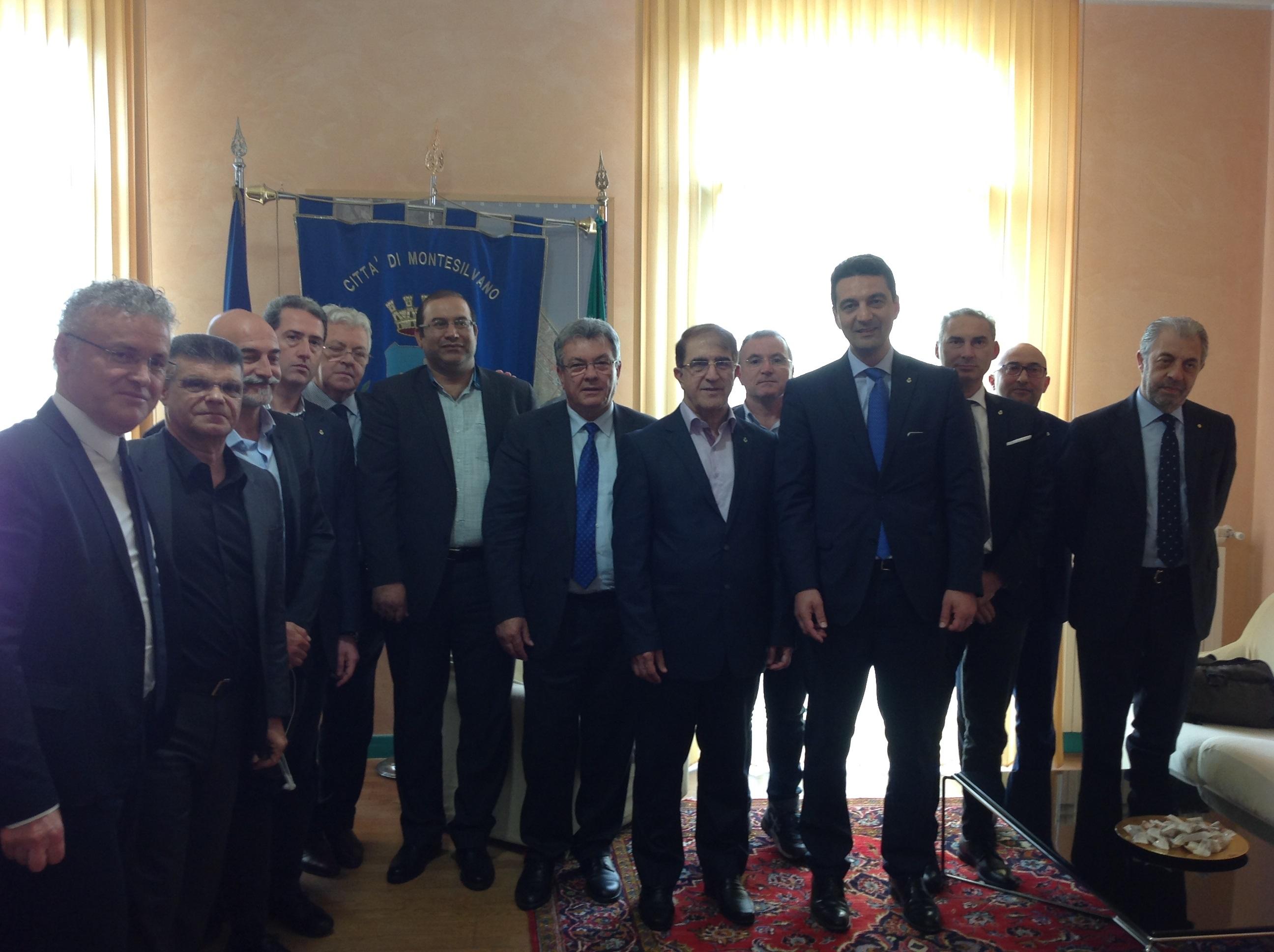 Delegazione iraniana in visita a Montesilvano