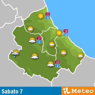 Previsioni meteo Abruzzo sabato 7 maggio