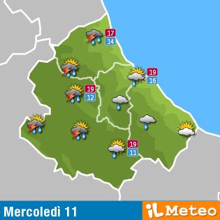 Previsioni meteo Abruzzo mercoledi 11 maggio