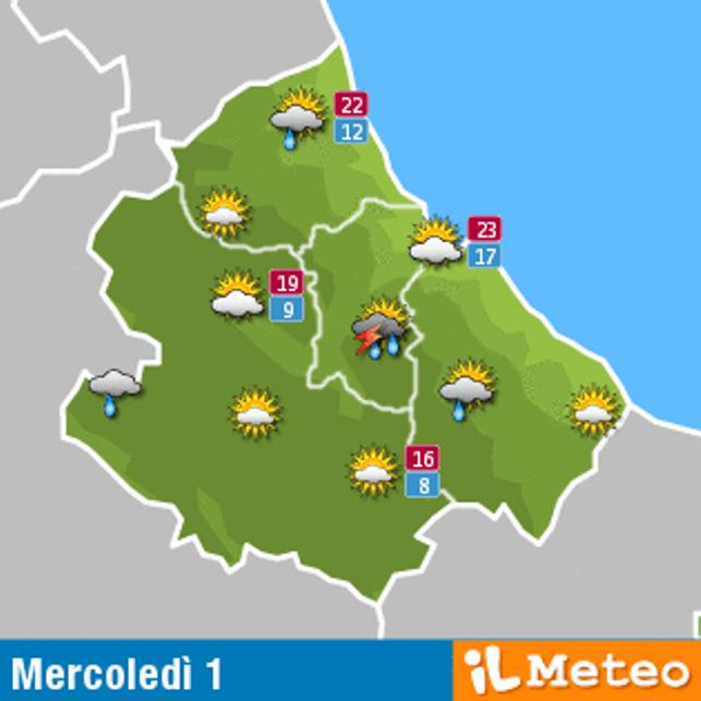 Previsioni meteo Abruzzo 1 giugno