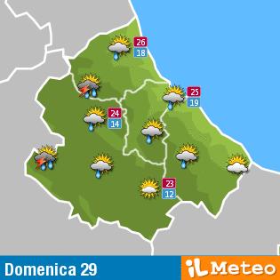 Previsioni meteo Abruzzo domenica 29 maggio