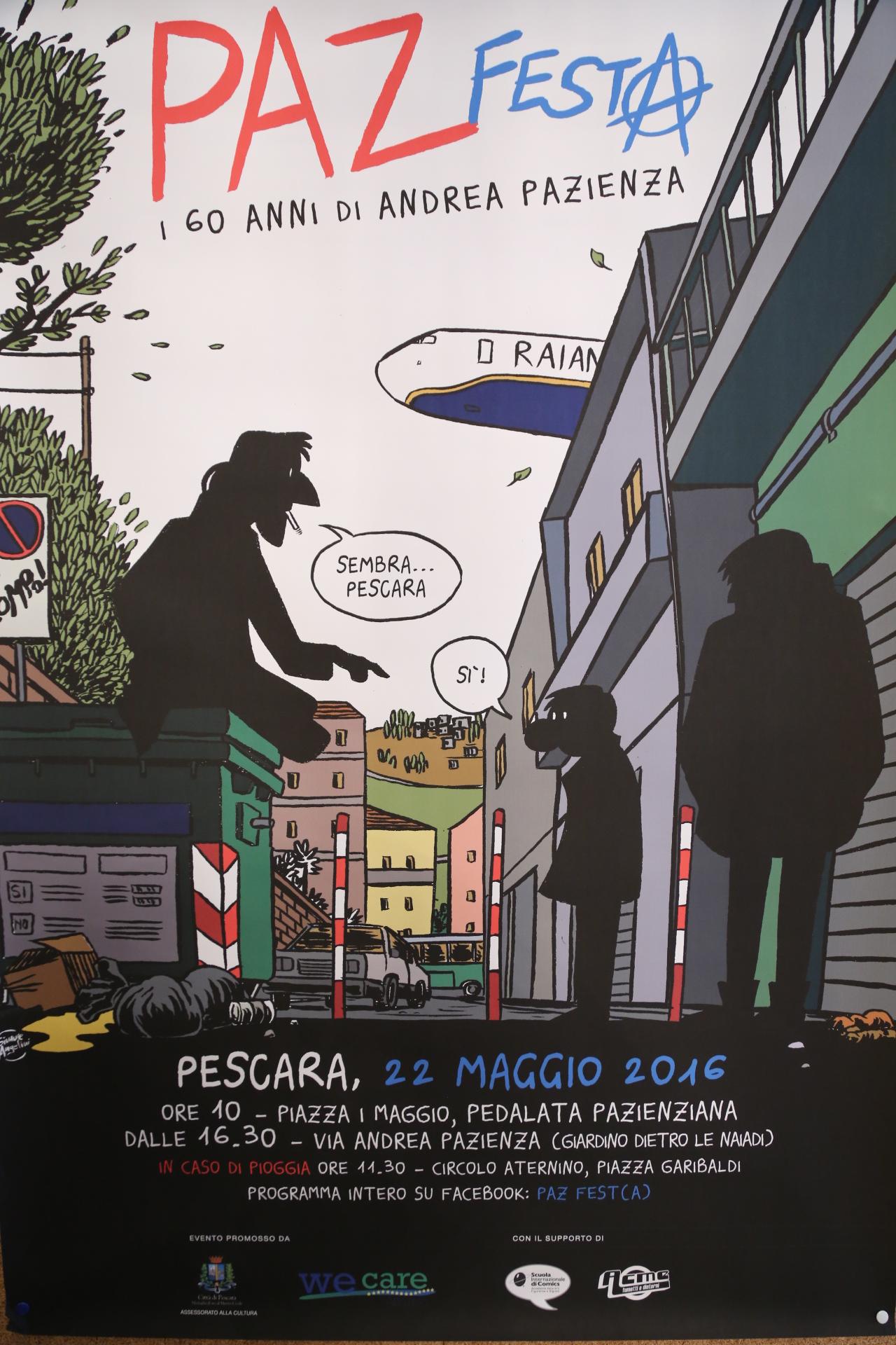 Pescara ricorda Andrea Pazienza