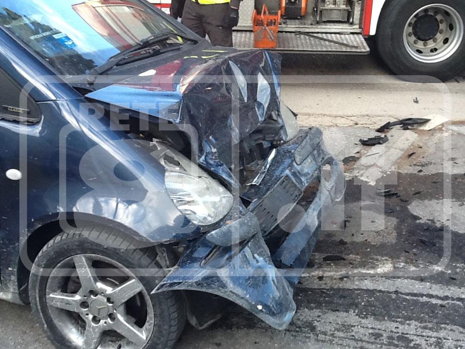 Incidente stradale, sfiorata la tragedia a Chieti