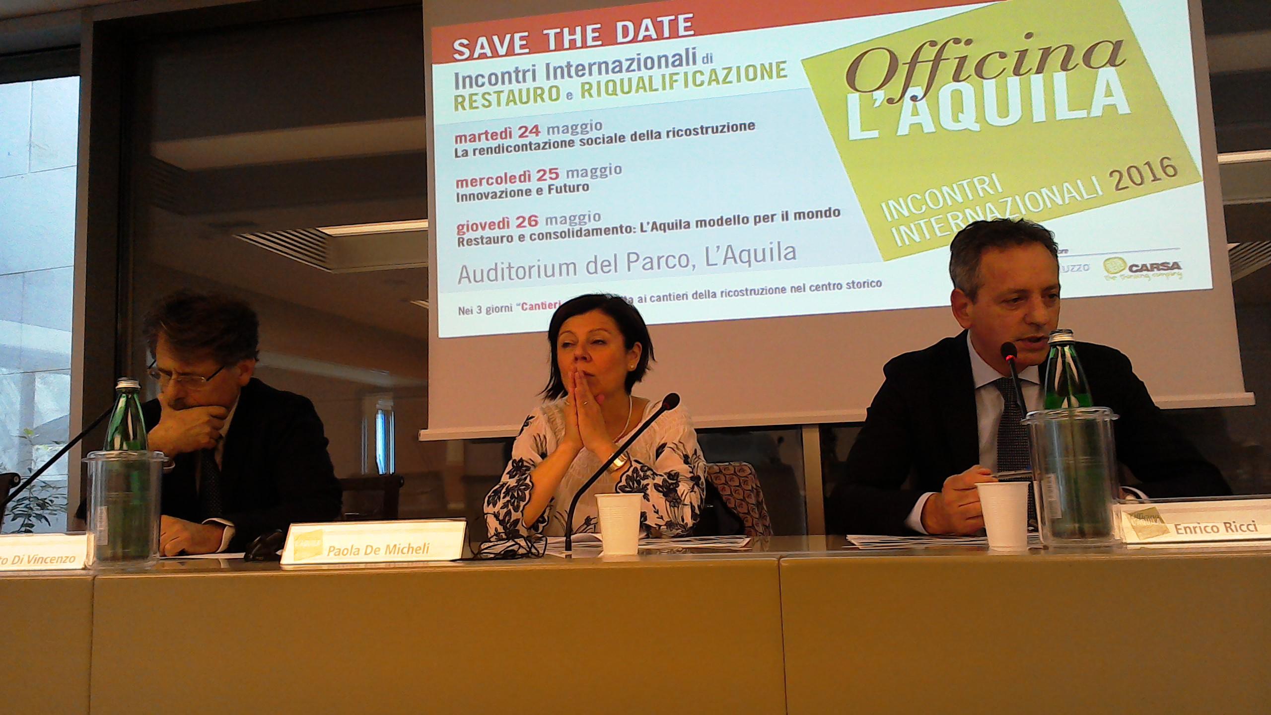 """""""Officina L'Aquila"""" dal 24 al 26 maggio"""