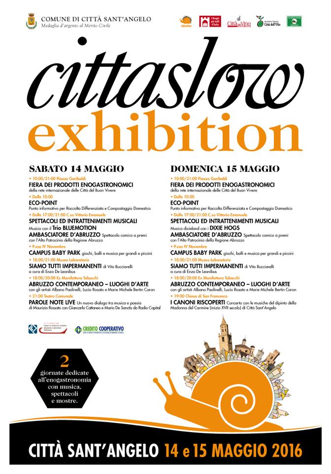 Cittaslow exhibition  a Città Sant'Angelo