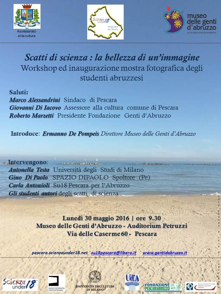 Pescara, scatti di scienza under 18