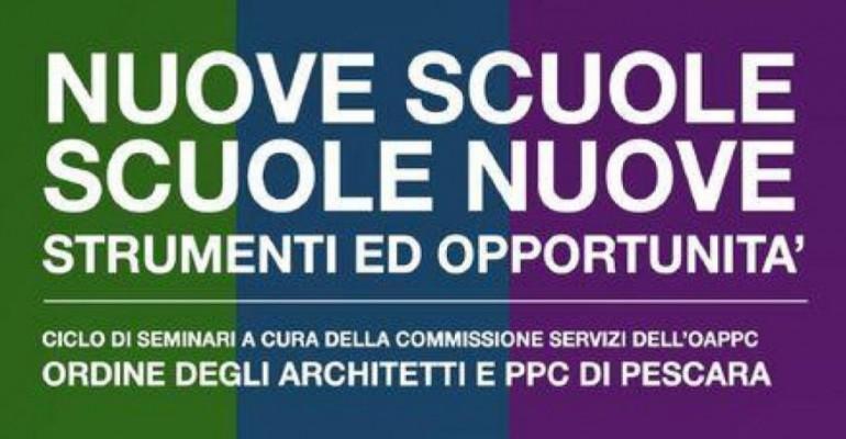 Architetti Pescara: Ciclo d'incontri su edilizia scolastica