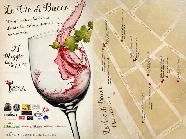 Pescara: domani tornano le vie di Bacco