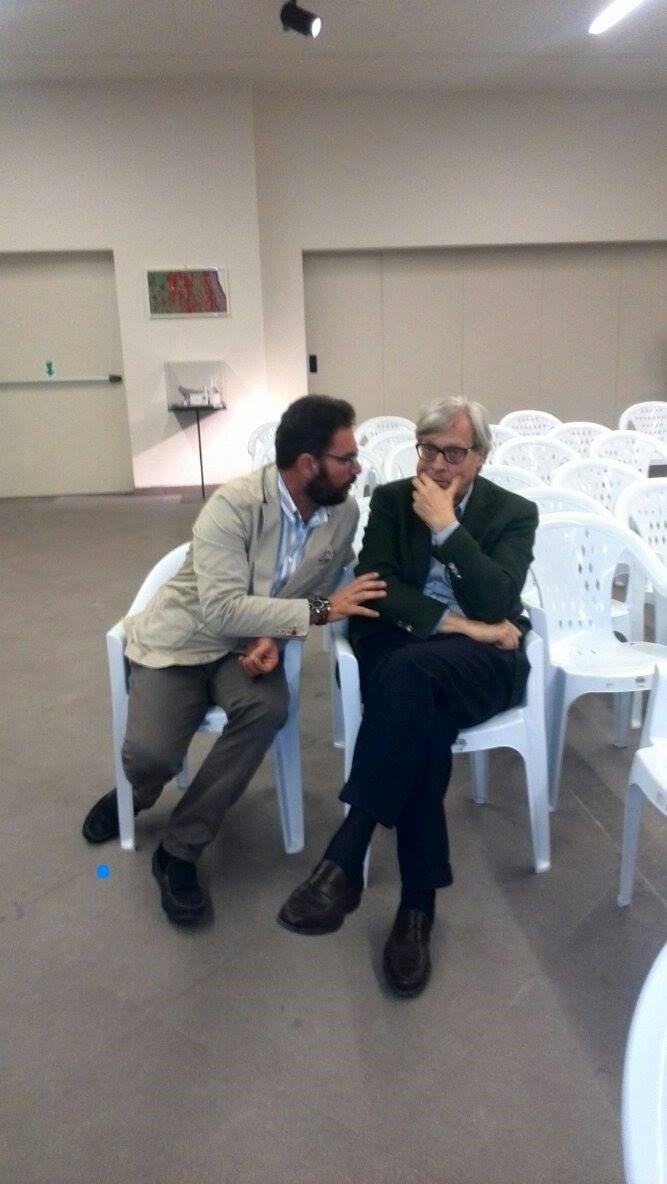 Vittorio Sgarbi alla Fortezza di Civitella del Tronto