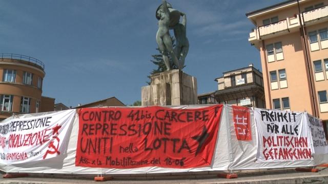 L'Aquila, 41 bis: arriva la protesta degli anarchici