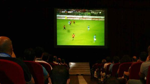 Pescara calcio, schermo anche in via Pepe