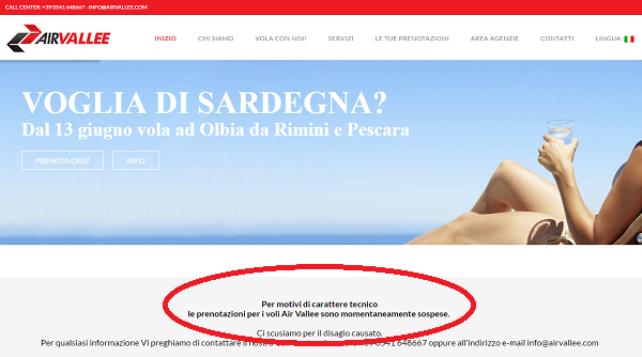 Air Vallée sospende i voli anche da Pescara fino al 30 novembre