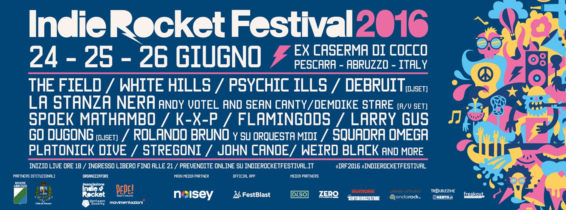 Pescara, da venerdì l'IndieRocket Festival #IRF2016
