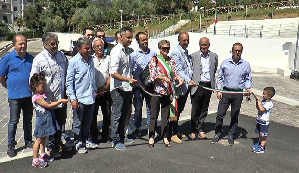 Inaugurata la piazzetta di Colleparco a Teramo