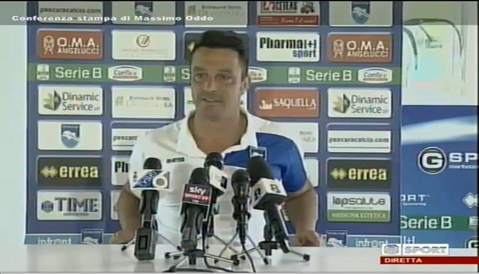 Pescara calcio. Oddo in diretta su Rete 8 Sport