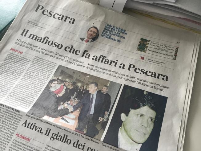 """Salvatore Cucuzza, ex pentito tornato alla mafia: """"affari nel pescarese"""""""