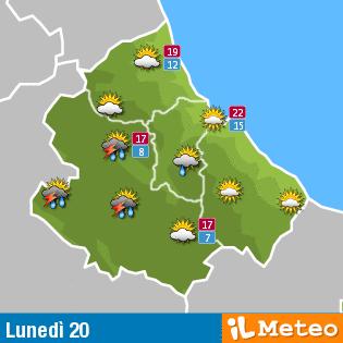 Previsioni Meteo Abruzzo lunedì 20 giugno