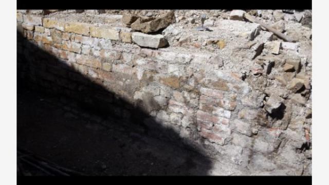 Moscufo: riemerge muro medioevale durante lavori