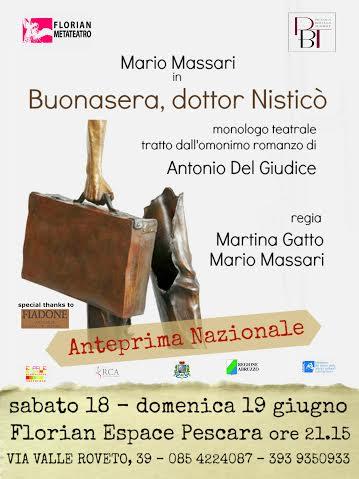 "Pescara: ""Buonasera, dottor Nisticò"" di scena al Florian"