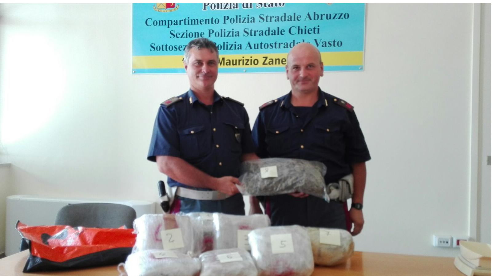 Arrestato trafficante di droga nel chietino