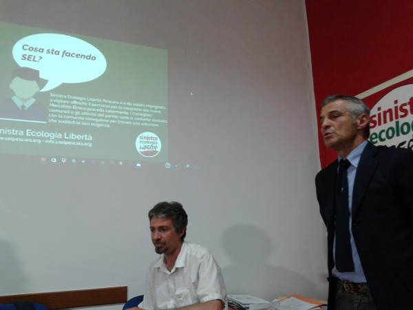 Sgombero mercato etnico Pescara, Sel chiarisce