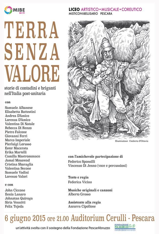 """Pescara: """"Terra senza valore"""", studenti attori in scena"""