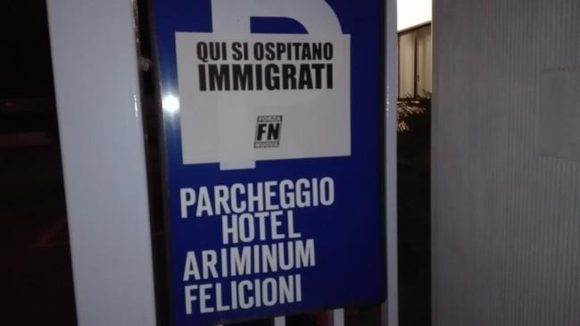 Montesilvano: Blitz Forza Nuova negli hotels per profughi
