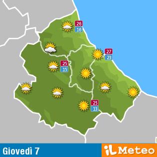 Previsioni meteo Abruzzo 7 luglio
