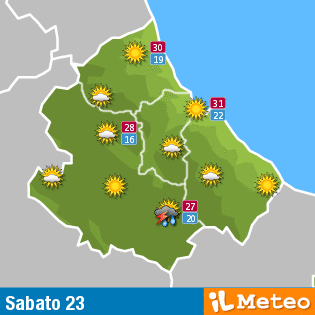 Meteo Abruzzo 23 luglio: mattino sereno, nuvole pomeridiane