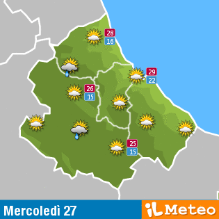 Previsioni meteo Abruzzo 27 luglio
