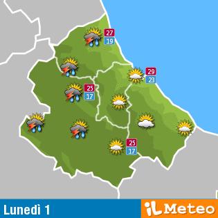 Previsioni meteo Abruzzo 1° agosto
