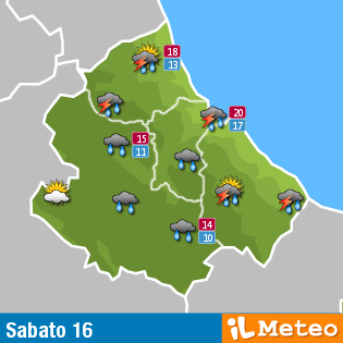 Previsioni meteo Abruzzo sabato 16 luglio